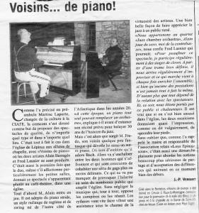 Article Echo de la Creuse 21 02